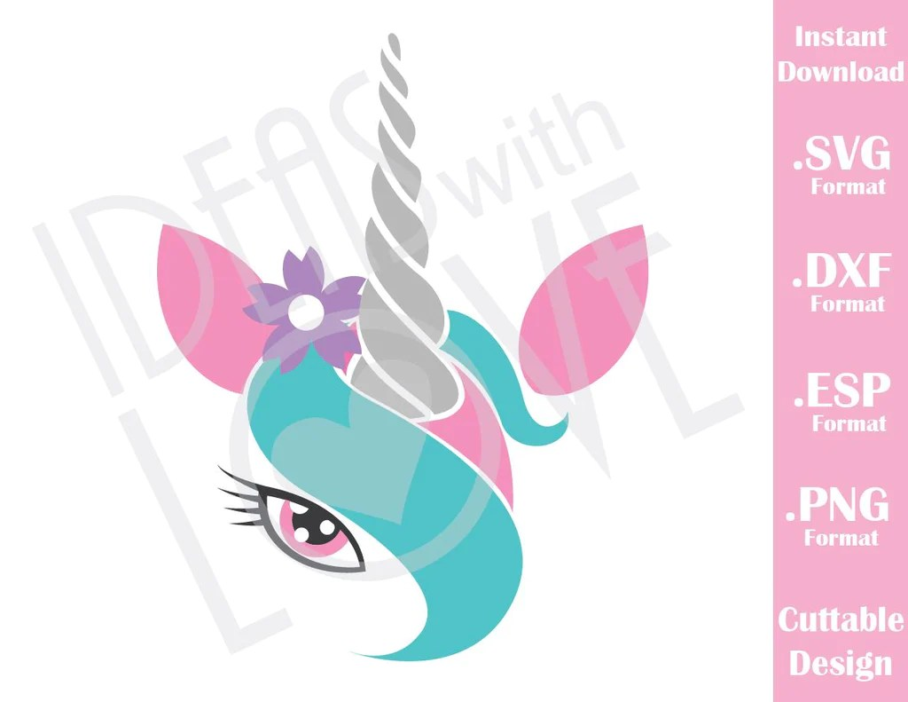 Download Unicorn Girl Cutting File in SVG, ESP, DXF and PNG Format ...