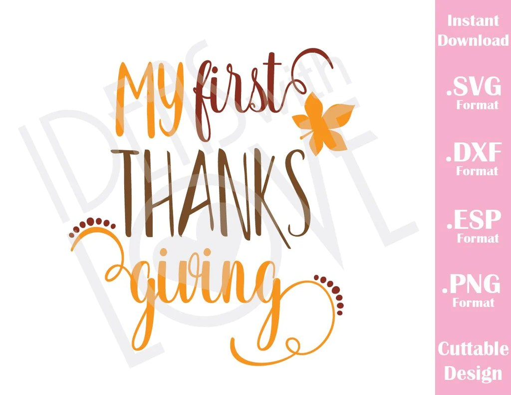 Download My First thanksgiving Fall Baby Kids Cutting File in SVG ...