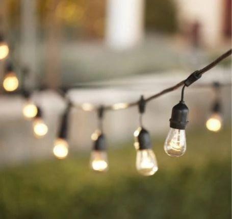 48 ft patio string lights 24 sockets e26 commercial grade