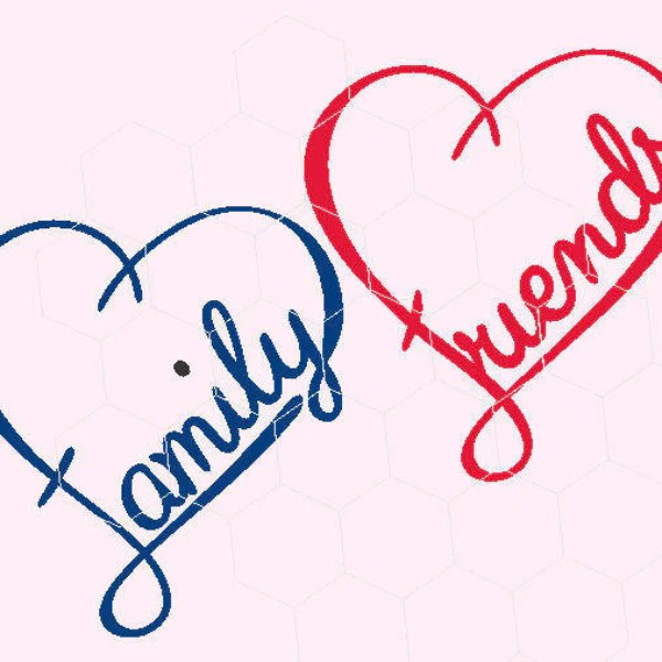 Download Heart, friends, family, love in svg, dxf, png, eps format ...