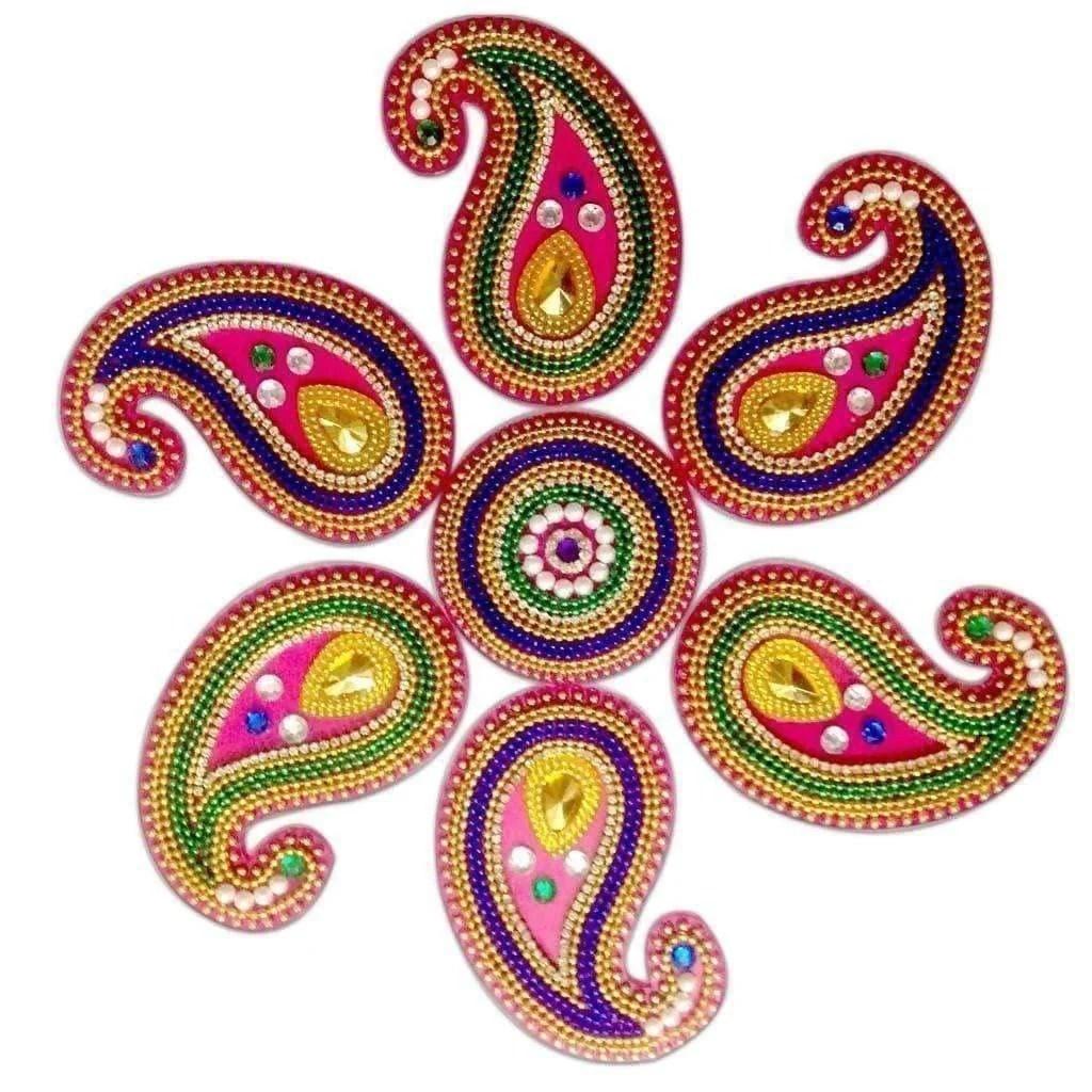 Colorful Rangoli design for floor decoration / Wall Decoration / Pooja  Decoration
