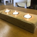 Tea Light Candle Holders In Rustic And Reclaimed Timber The Good Shelf Company