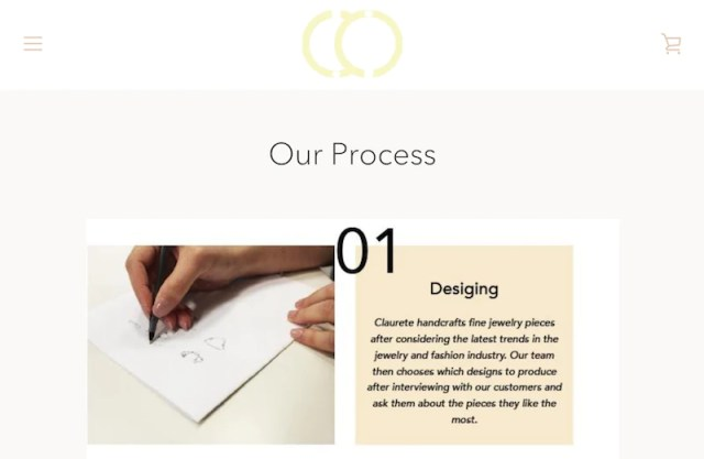 Jewelry brand Claurette's step-by-step design process