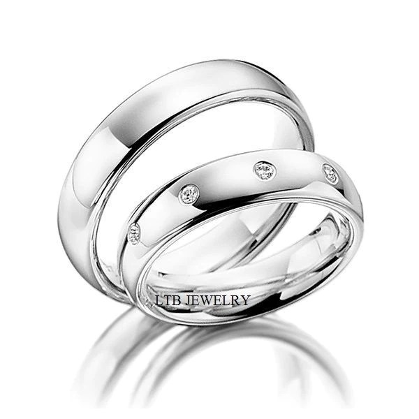 his and hers matching wedding bands set 10k white gold diamond wedding rings