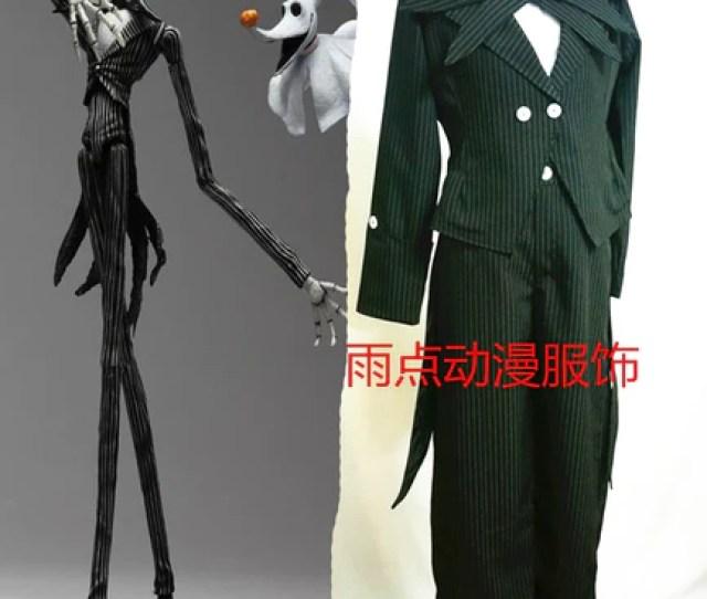Jack Skellington Nightmare Before Christmas Tuxedo Suit Halloween Costume Cosplay