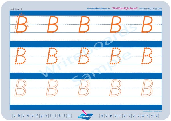 Download Worksheet Pack B - QLD Modern Cursive Font   Writeboards ...