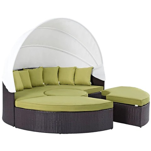 convene 4 piece outdoor daybed set with canopy multiple finish options