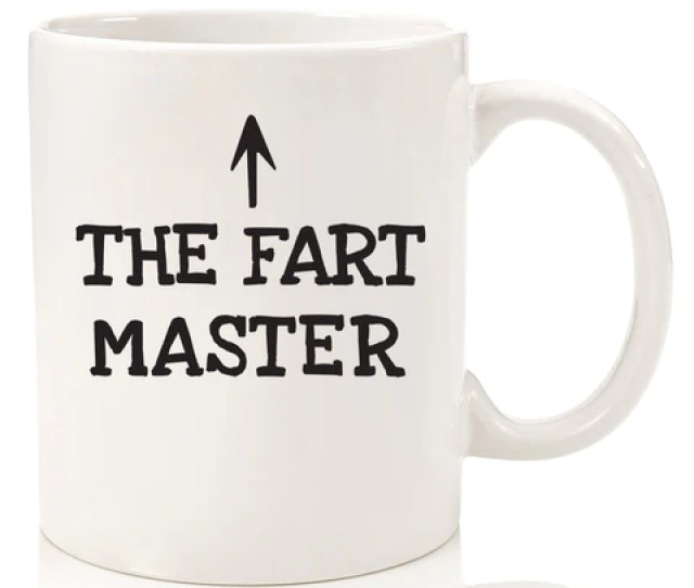 The Fart Master Funny Coffee Mug Novelty Cup For Dad Brother Men Guys Uncle Hilarious Gag