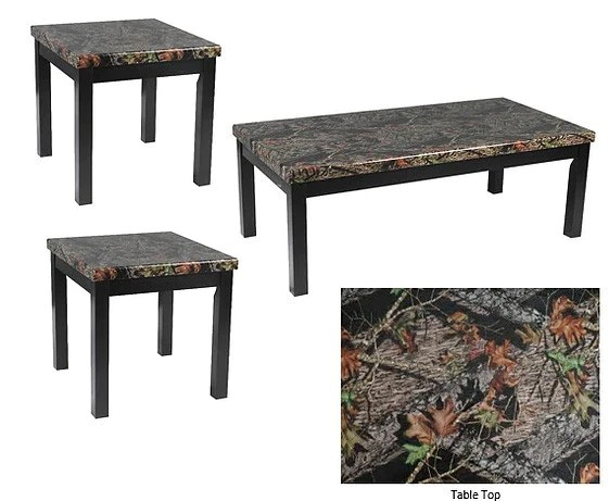 mossy oak coffee table set 3 pcs set