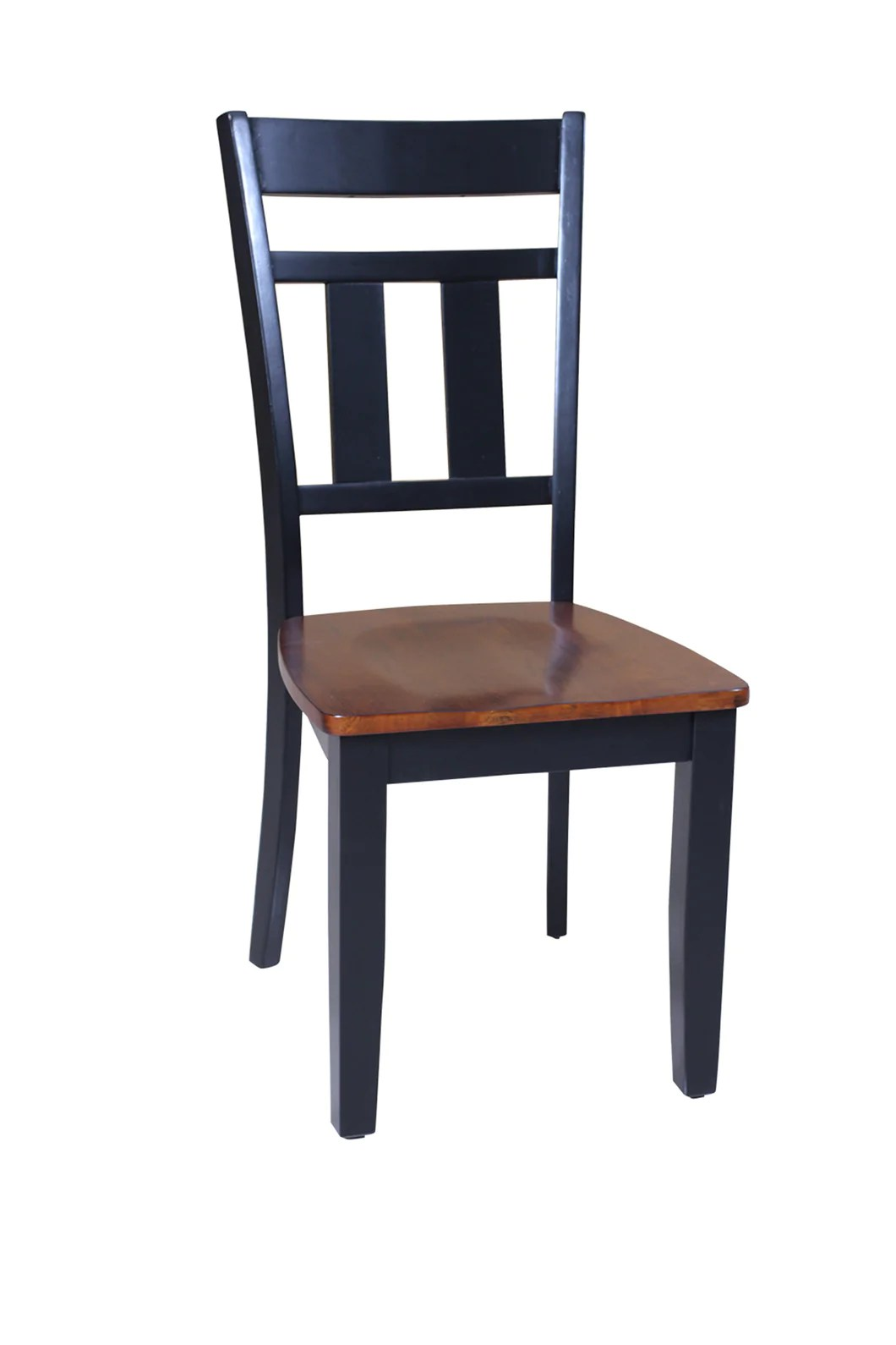 Four Sturdy Dining Chair In Distressed Light Cherry And Black Tuscohome