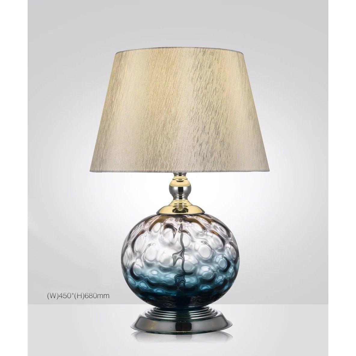 Urbanity Hand Crafted Blown Glass Table Lamp With Shade Italian Concept