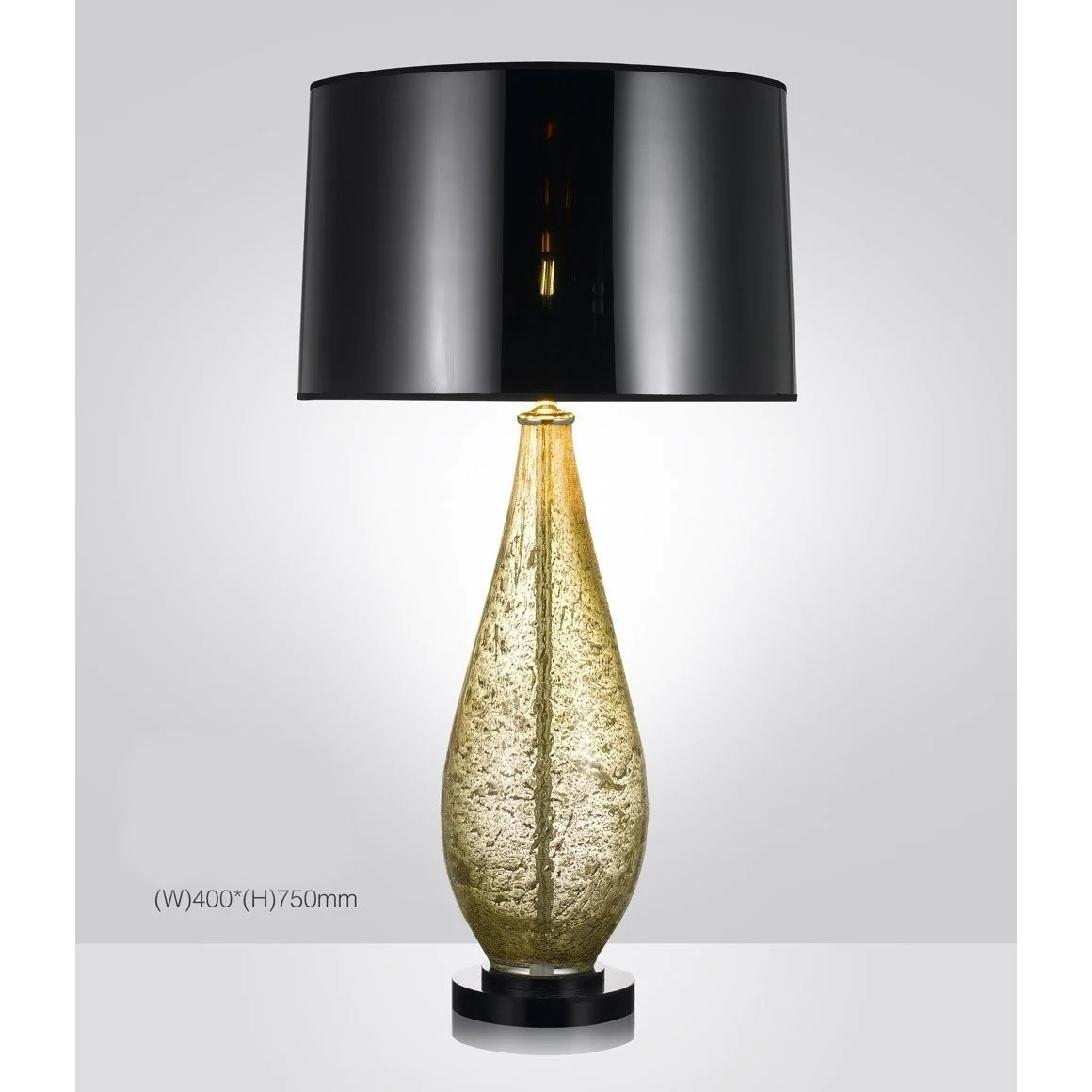 Harrod S Amber Hand Crafted Blown Glass Table Lamp With Shade Italian Concept