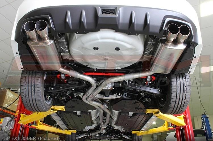 perrin cat back exhaust dual tube non resonated 2011 wrx sti