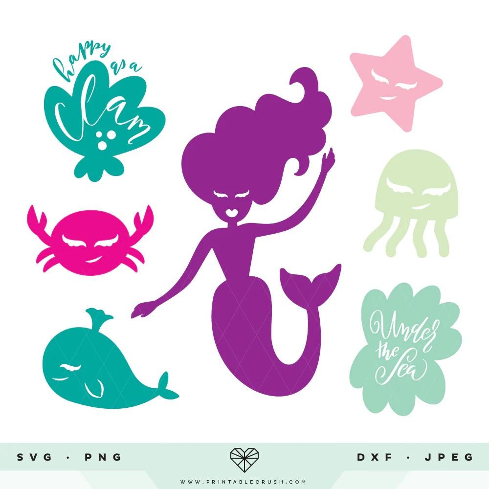 Download Mermaid SVG Cut Files - Printable Crush