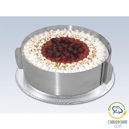 moule cercle a gateau reglable en acier inoxydable pour des gateaux individuels parfaits