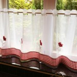 Poppies Cafe Curtain Panel White Red Uk Delivery Terrys Fabrics