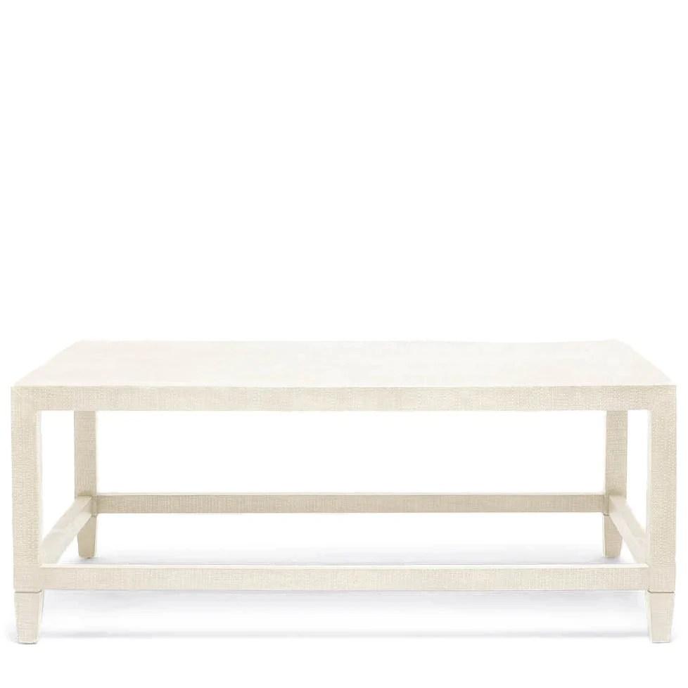 made goods conrad coffee table off white faux raffia