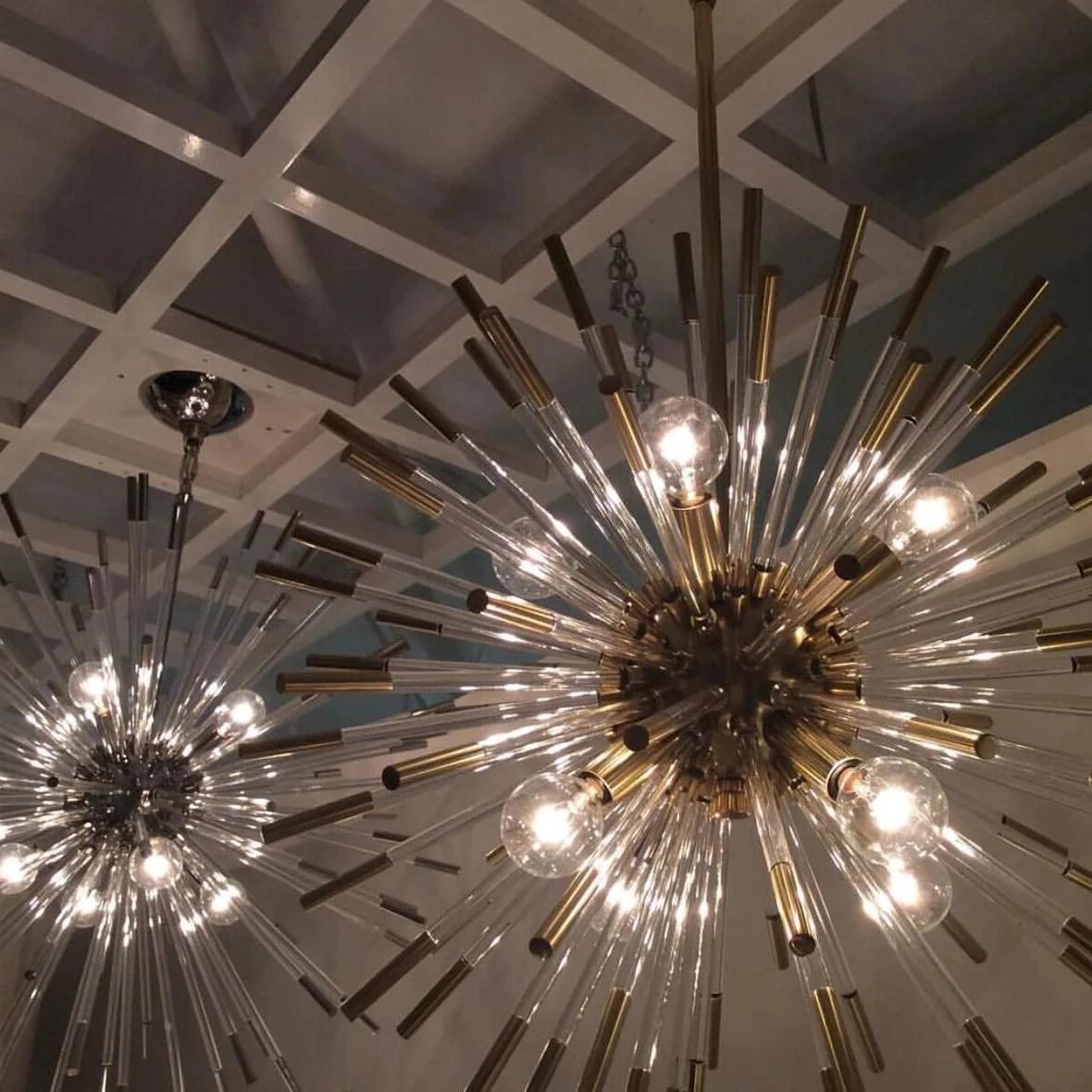 andromeda large chandelier in brass