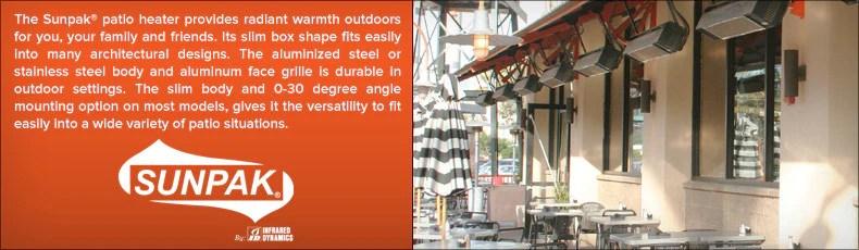 sunpak heaters commercial grade