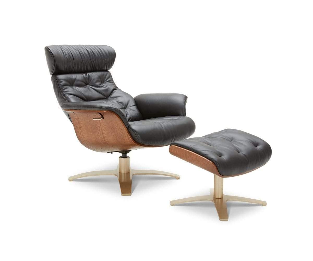 anselmo leather recliner ottoman