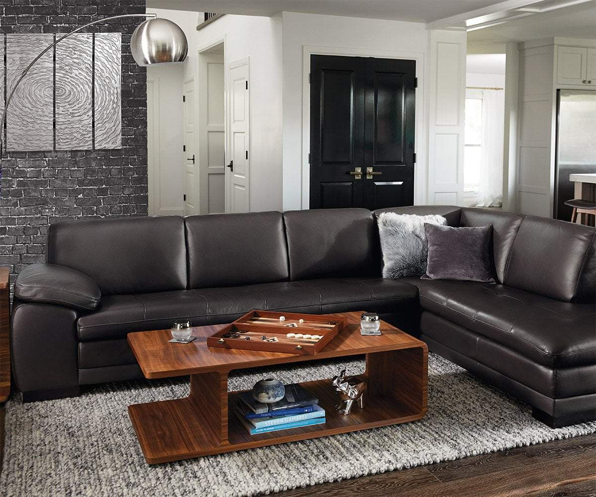 cercis leather right sectional