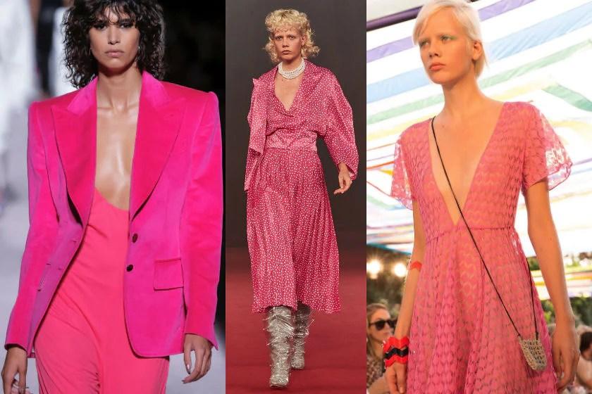 Bright pink fashion trend spring summer 2018