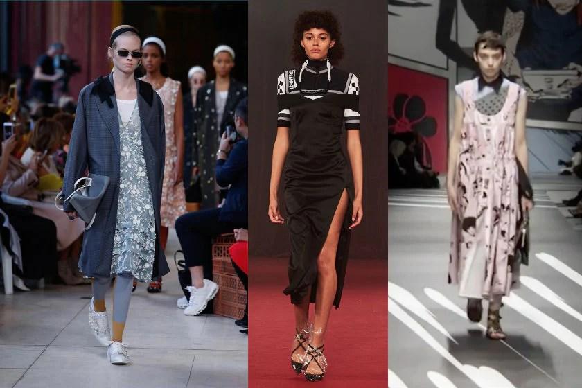 Dress over shirt fashion trend spring summer 2018