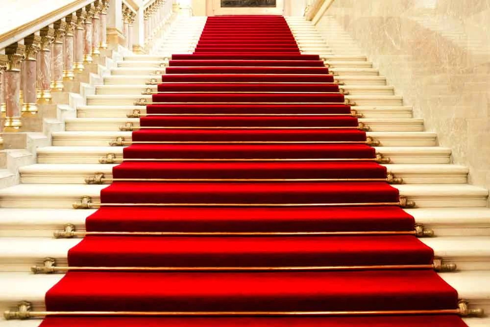 Red Carpet Backdrops Pillars Background Steps Background