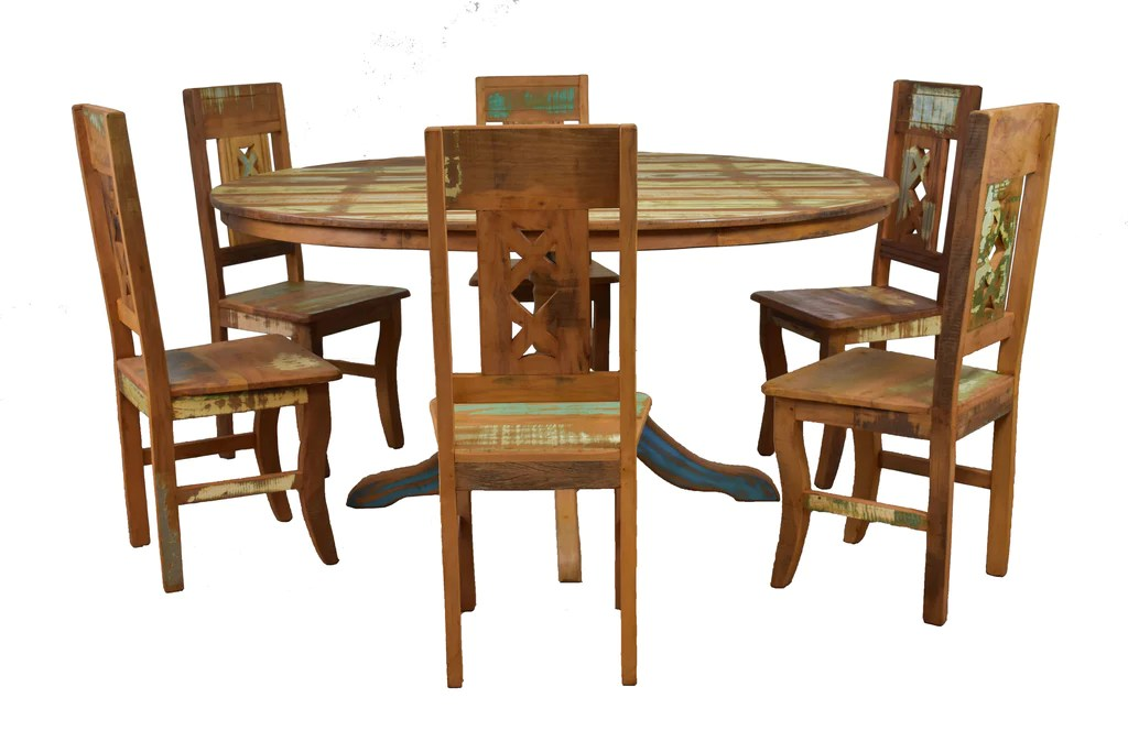 Mariam Reclaimed Wood Round Dining Table Save The Planet Furniture