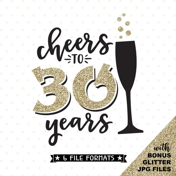 Cheers To 30 Years SVG File 30th Birthday SVG 30th
