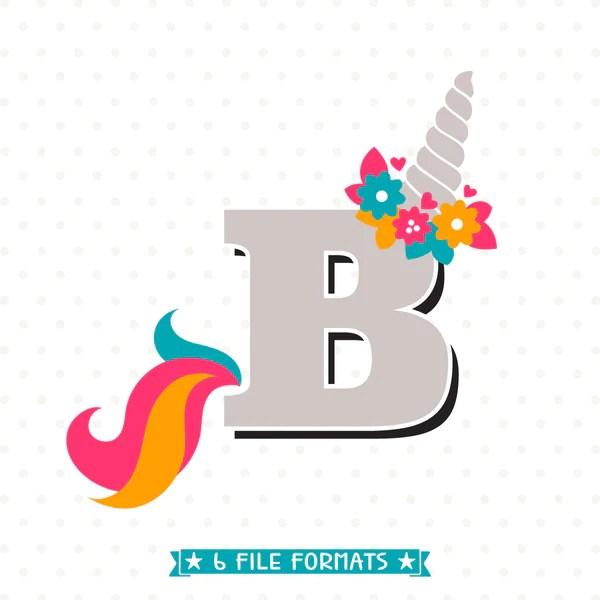 Letter B Unicorn SVG Initial Svg Girls Unicorn Shirt