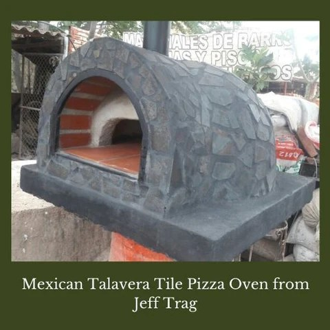 mexican talavera tile pizza oven from