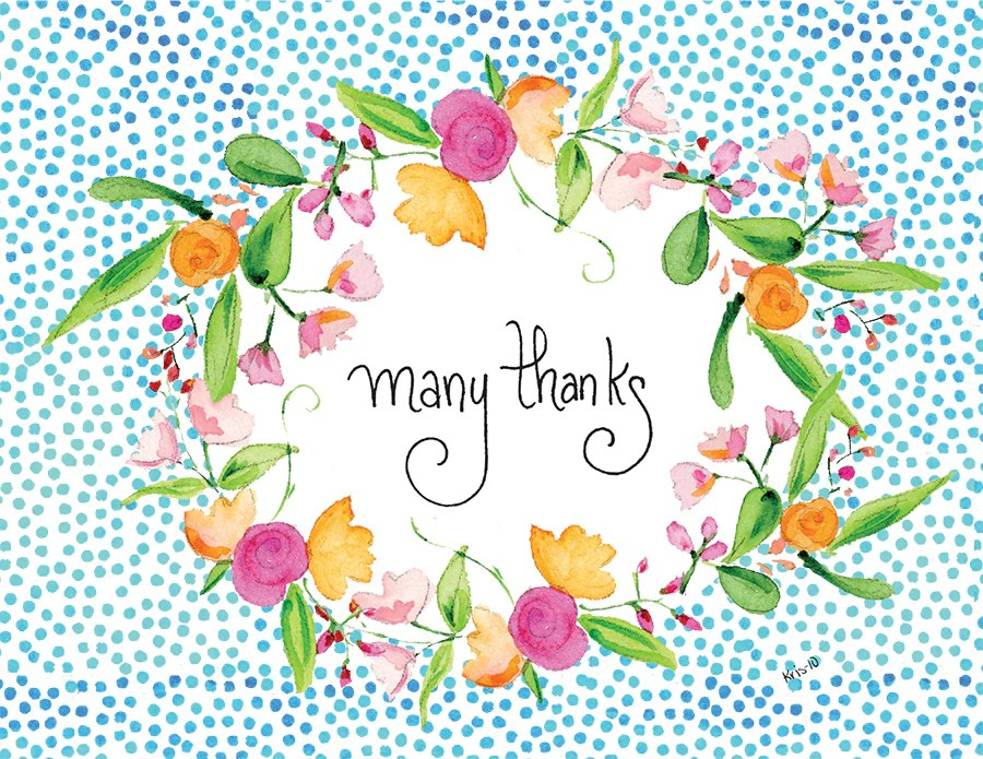 Many Thanks Wreath Boxed Notes Kris 10s Creations