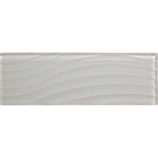 american olean abstracts 4 in x 12 in wavy glass wall tile pearl