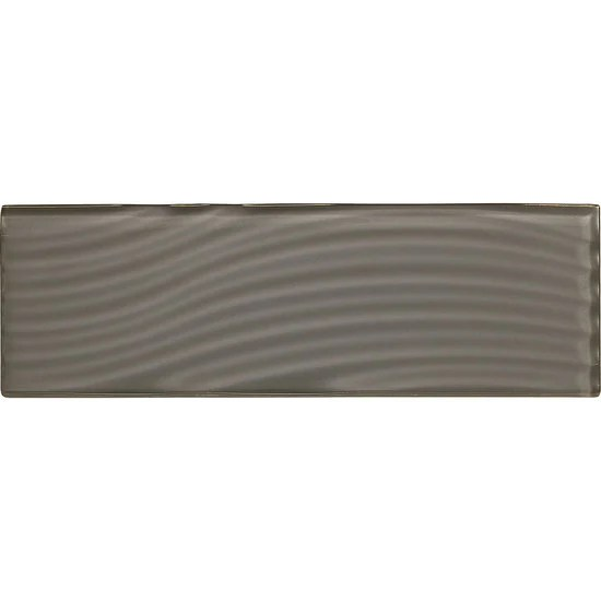 american olean abstracts 4 in x 12 in wavy glass wall tile charcoal