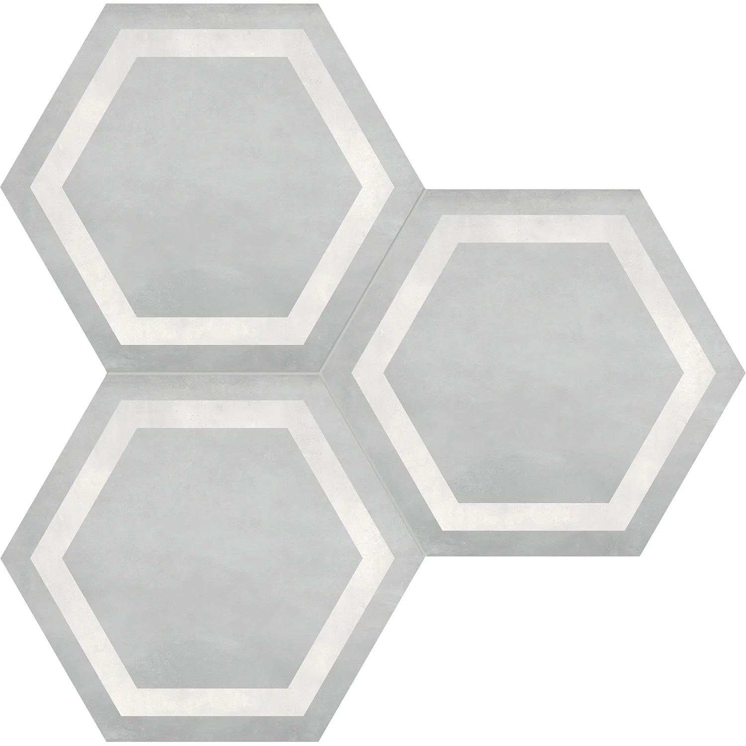 anatolia form hd 7 in x 8 in hexagon frame porcelain tile ice