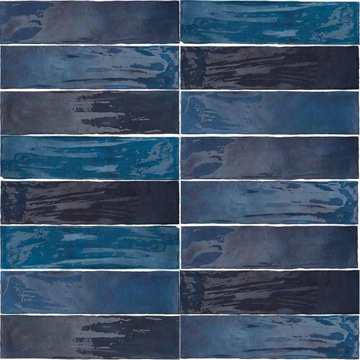 arizona tile flash 3 x 12 ceramic wall tile cobalt
