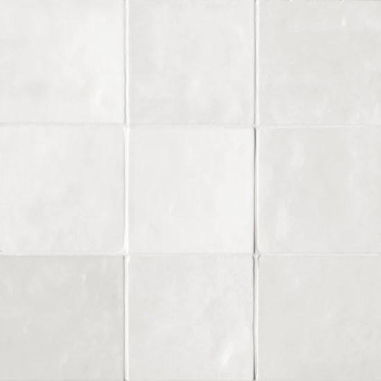 bedrosians tile stone cloe 5 x 5 wall tile white