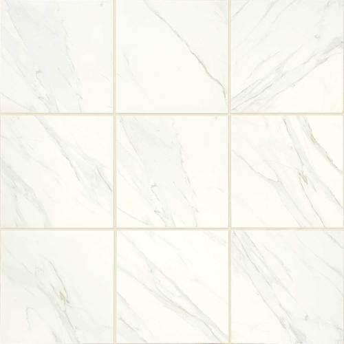 daltile florentine 12 in x 12 in glazed porcelain floor tile carrara fl06