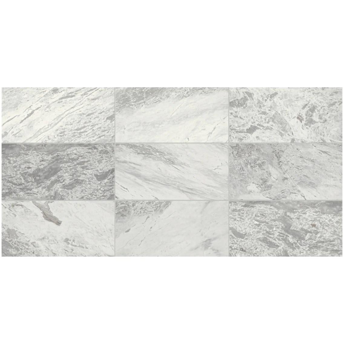 daltile raine 12 x 24 marble tile polished stratus white m017