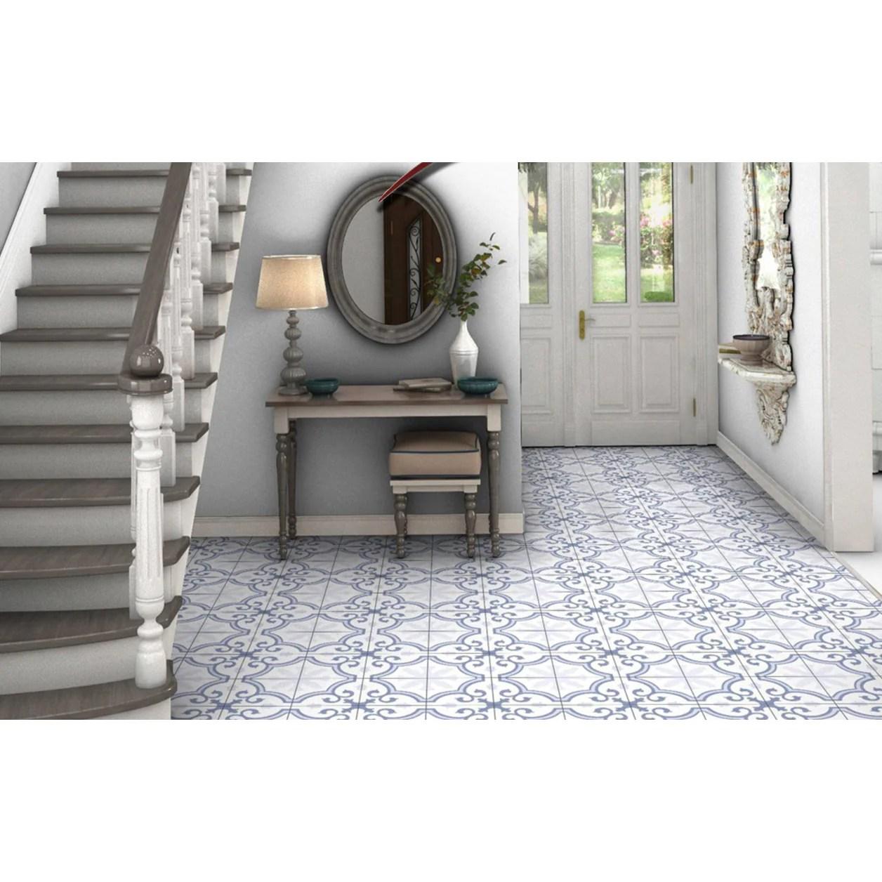 general ceramic 10 in x 10 in lacour artic deco tile