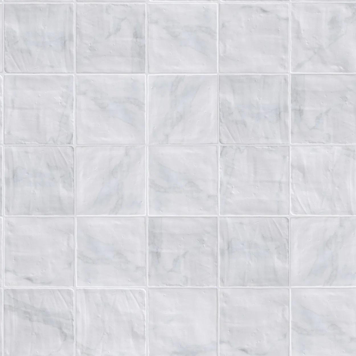 lungarno massa carrara 6 in x 6 in undulated wall tile