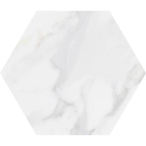 lungarno massa carrara 9 x 10 hex porcelain floor tile