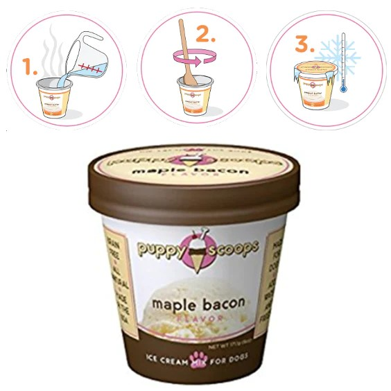 Maple Bacon Flavored Ice Cream For Dogs Prized Pet