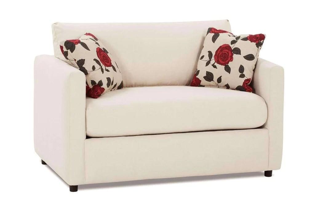 City Fabric Upholstered Loveseat Twin Sleeper Club Furniture