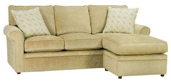 kyle designer style apartment size sofa with reversible chaise