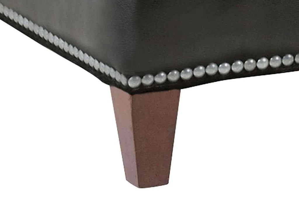 ward 43 inch square contemporary large leather cocktail ottoman