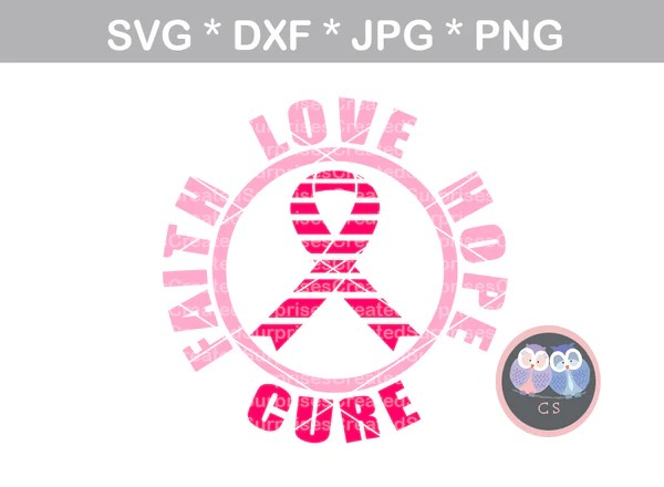 Download Faith, Love, Hope, Cure, Pink Ribbon, cancer awareness ...