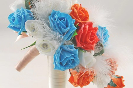 orange and turquoise flowers » Flower Shop Near Me | Flower Shop