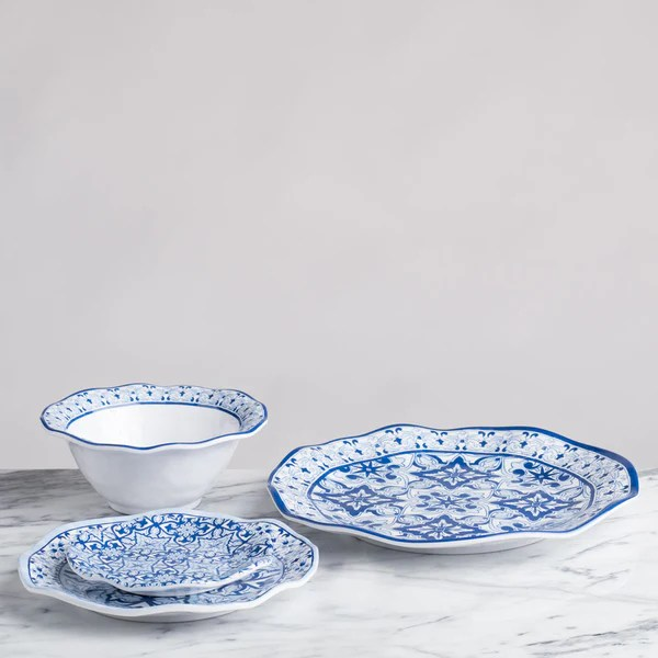 Cobalt Blue Square Dinnerware Set